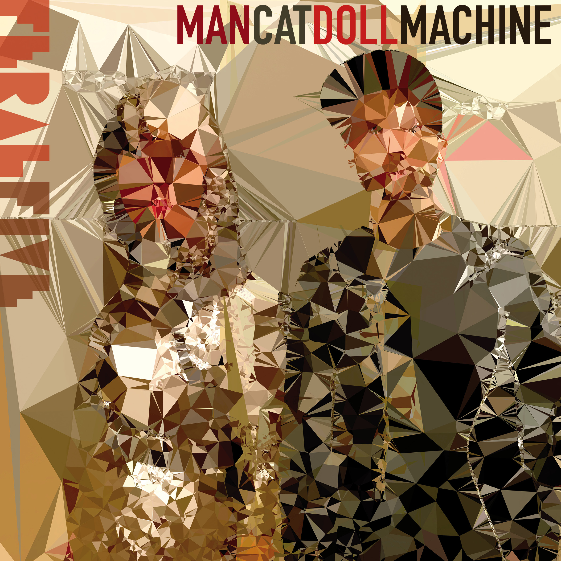 Feral Five Man Cat Doll Machine EP Cover Art by Tracey Moberly Design and Code Jonathan Moberly