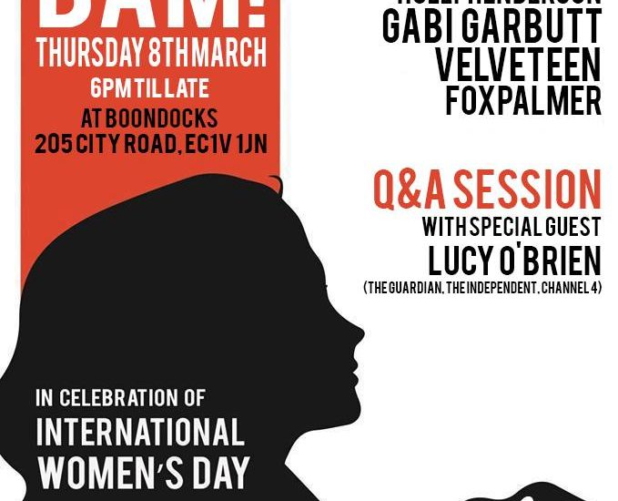 Feral Five International Womens Day show poster