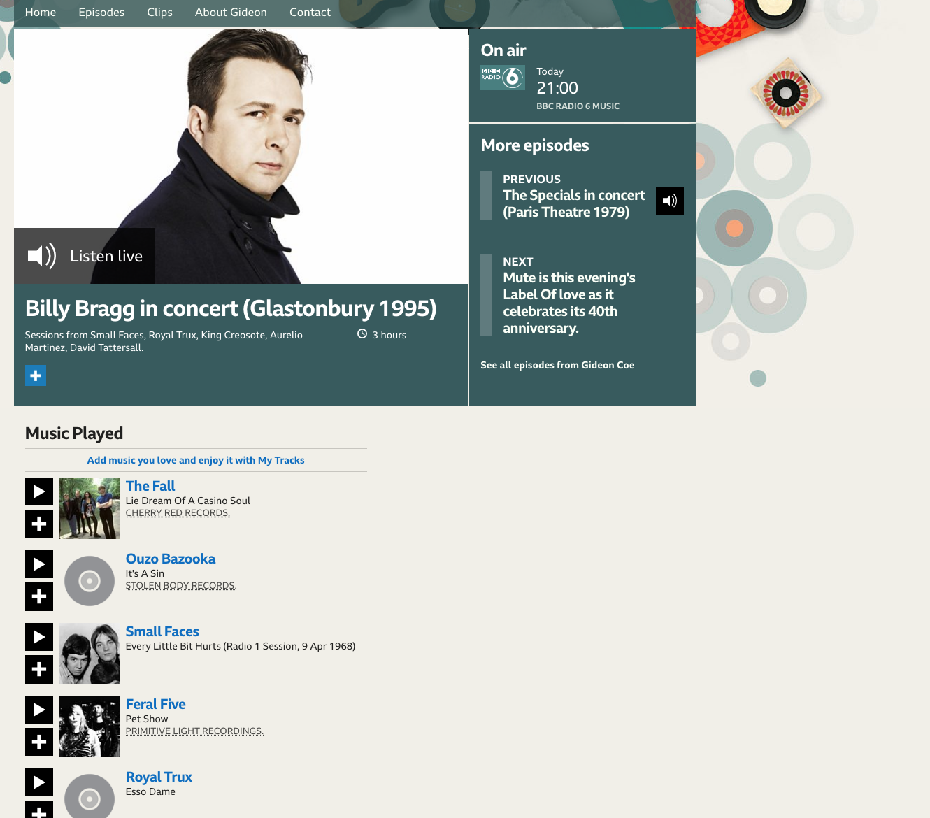 BBC Radio 6 Music, Gideon Coe, Premiere, Pet Show, Feral Five, electro, electronica, electropunk, synth, bass, AI, robot