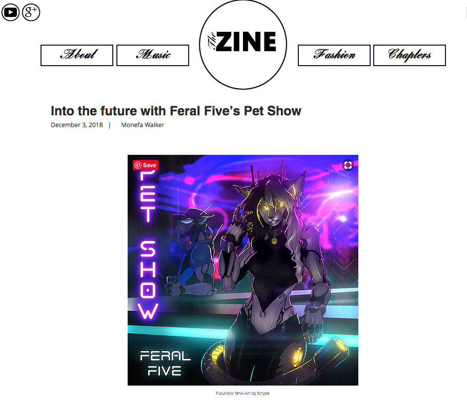 Feral Five, Pet Show, single, electro, electronica, electropunk, synth, bass, new music, AI, robot, bar, party, The Zine