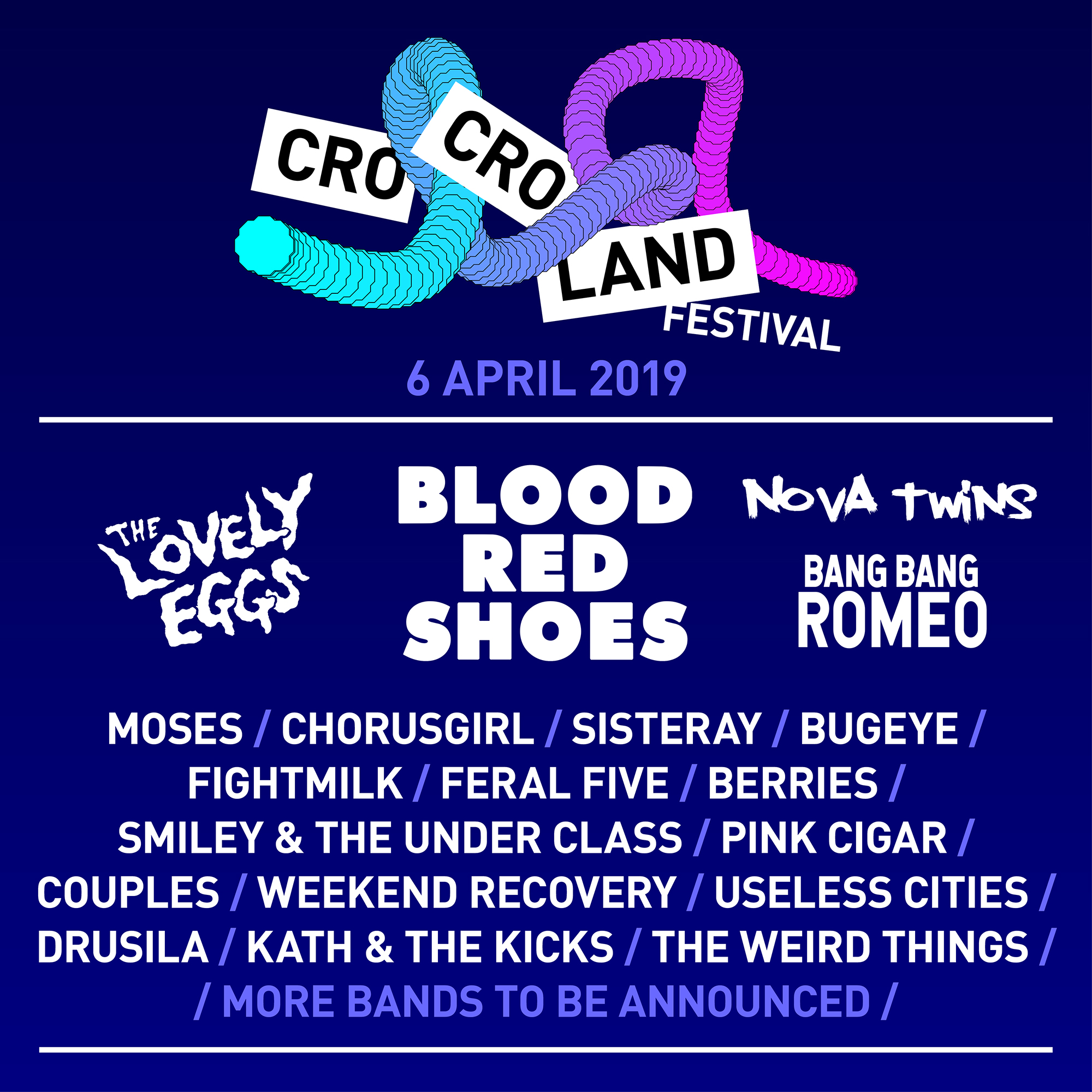 Feral Five, Cro Cro Land, Festival, new music, electro, electropunk, electronica, indie, Blood Red Shoes, The Lovely Eggs, Nova Twins, Bang Bang Romeo, Sisteray, Moses, Bugeye, Fightmilk