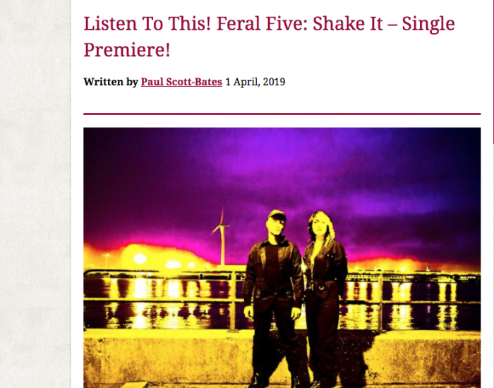feral five, shake it, single, premiere, louder than war,electronica, electropunk, electro, dance, punk , bass, guitar, synth